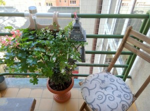 Nice terrace - Nice fully furnished studio for rent with balcony, Prague 3 Vinohrady, Slezska str., Green line A Flora