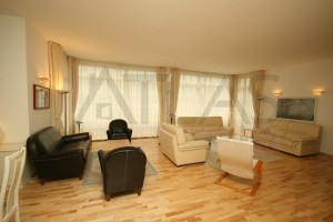 Spacious living room - For Rent: Luxury fully furnished 2BD apartment in Prague 5 - Jinonice, close to the German School Prague