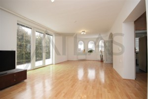 Spacious living room - For Rent: 4-bedroom, 180 sqm house Prague 6 - Nebusice